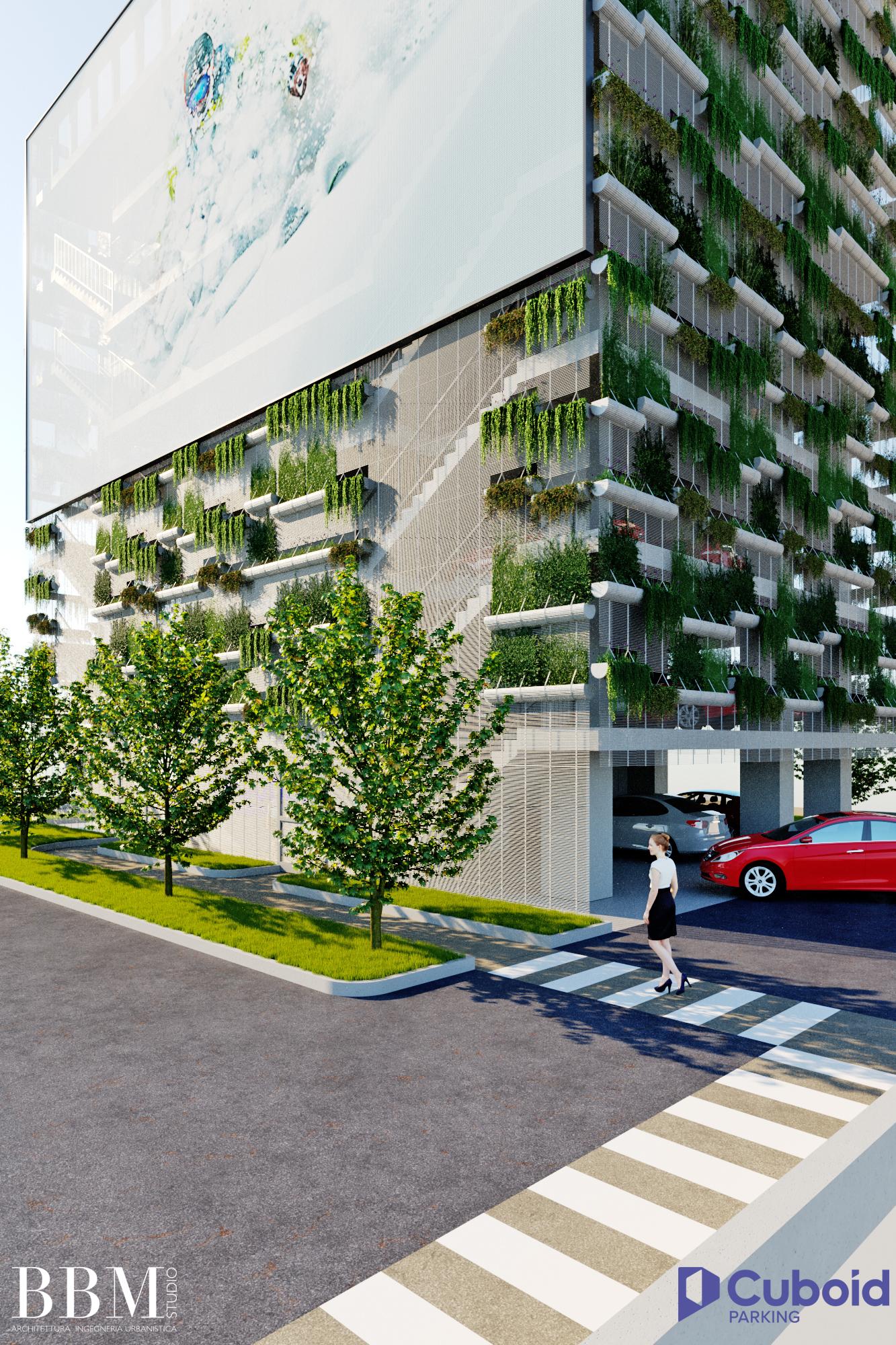 Cuboid Parking - Cuboid Access and Facade