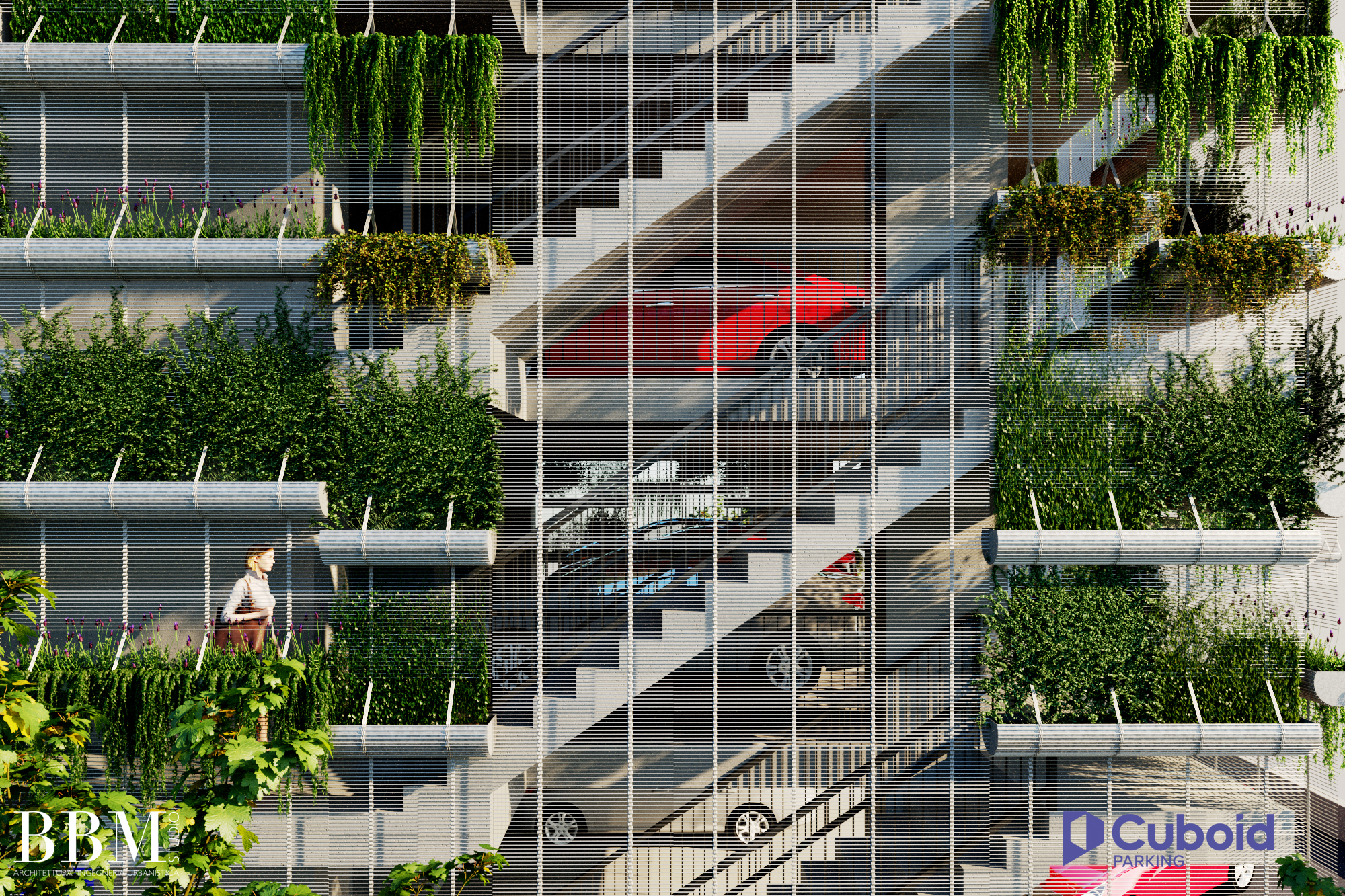 Cuboid Parking - Cuboid Treppenhaus